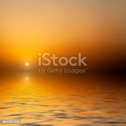 Sunrise At Sea Stock Photo & More Pictures of Black Color