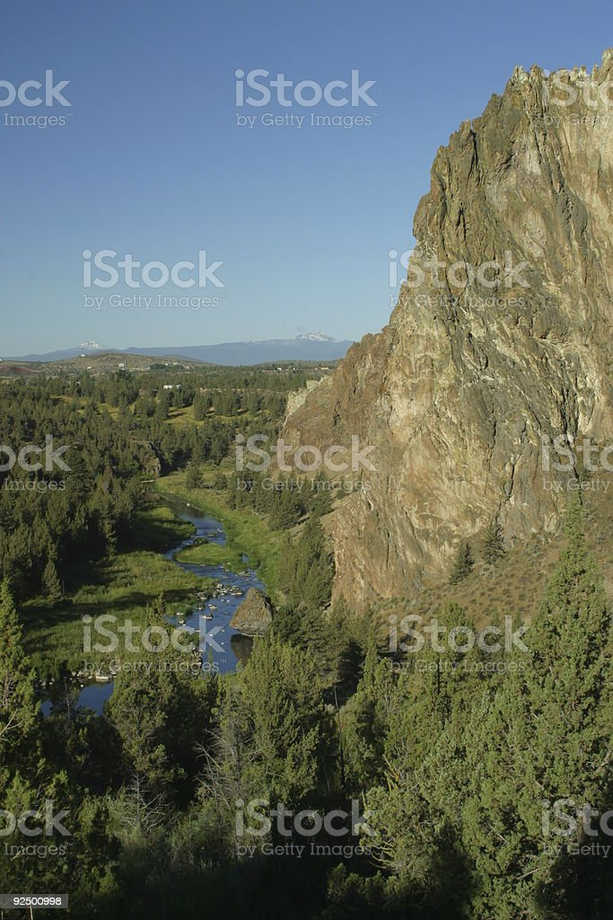 Sunrise at Smith Rock royalty-free stock photo