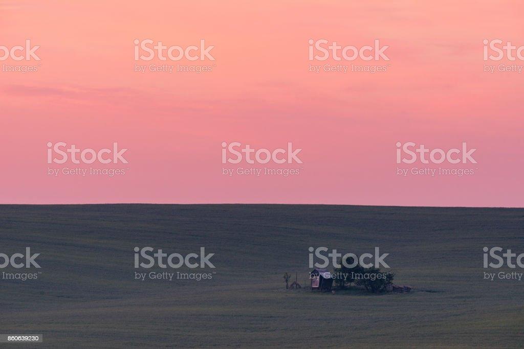 Sunrise at South Moravia stock photo