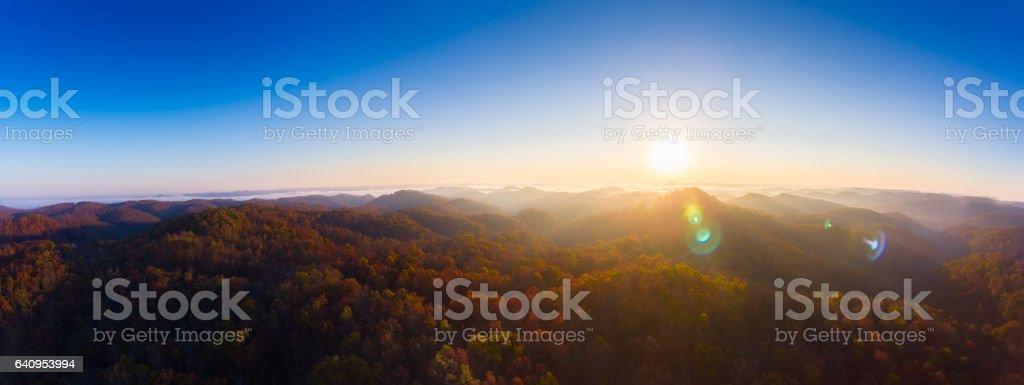 Sunrise at Tater Knob stock photo