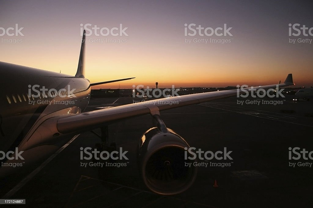 Sunrise at the Airport royalty-free stock photo