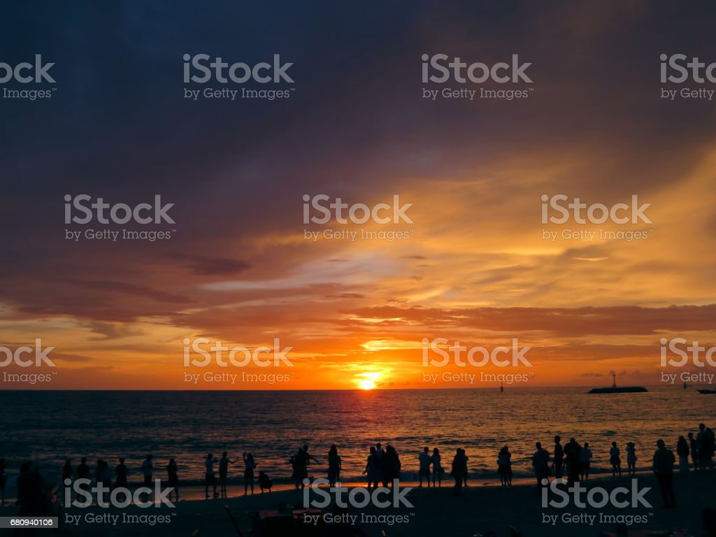 Sunrise at the beach royalty-free stock photo