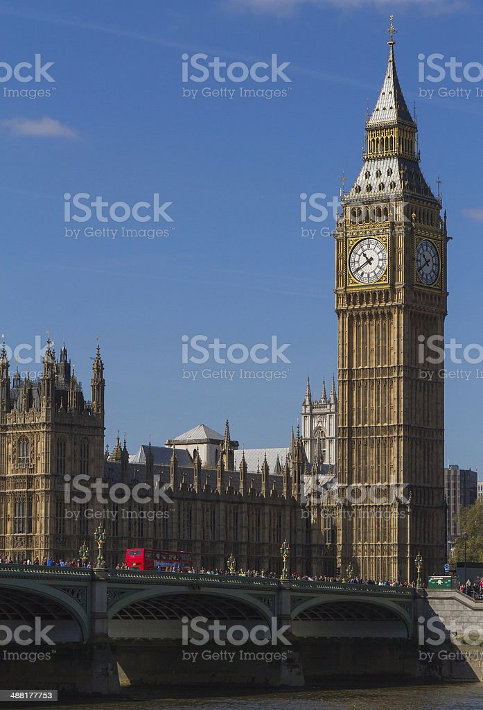 Sunrise at the big ben in London stock photo