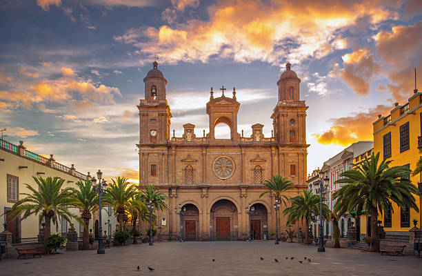 Sunrise at the Cathedral of Las Palmas de Gran Canaria