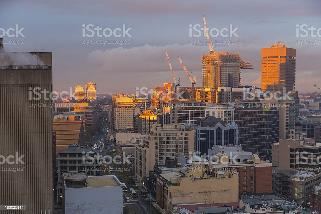 Sunrise at the Construction Site royalty-free stock photo