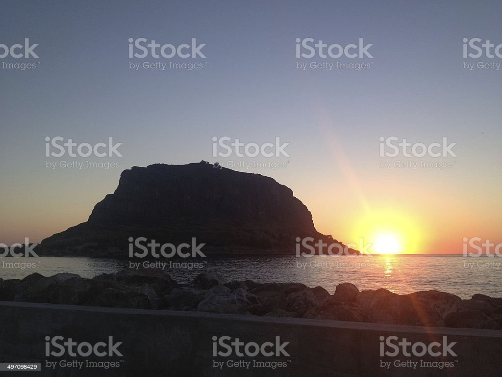 Sunrise at the greek island Monemvasia​​​ foto