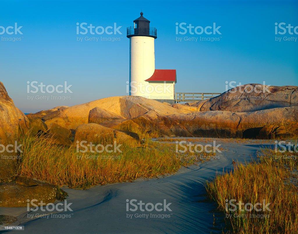 Sunrise at the lighthouse (P) royalty-free stock photo