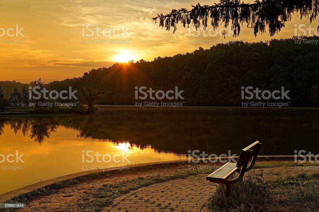 Sunrise at the Park stock photo