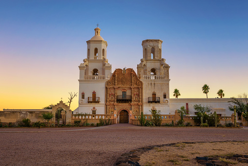 istock Sunrise at the San Xavier Mission Church in Tucson 1078522852