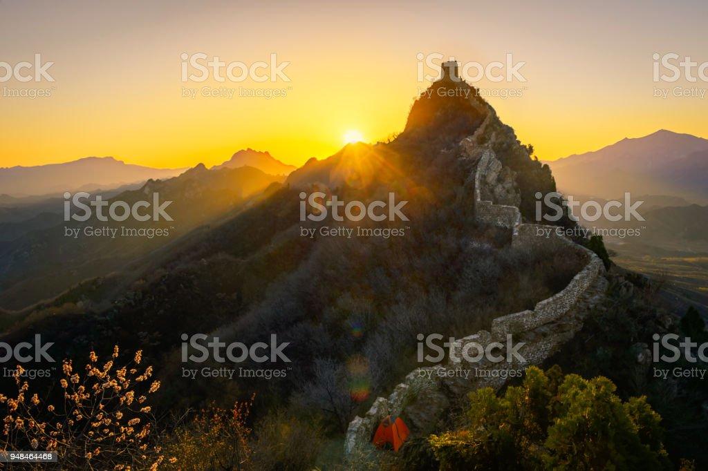 Sonnenaufgang auf der Simatai Great Wall, China – Foto