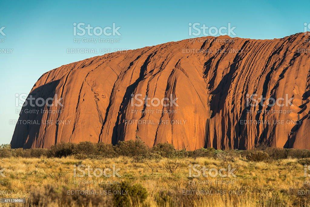 Sunrise at the Uluru / Ayers Rock stock photo