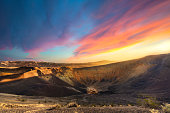 Dazzling light at the edge of Ubhebe Crater in Death Valley, CA