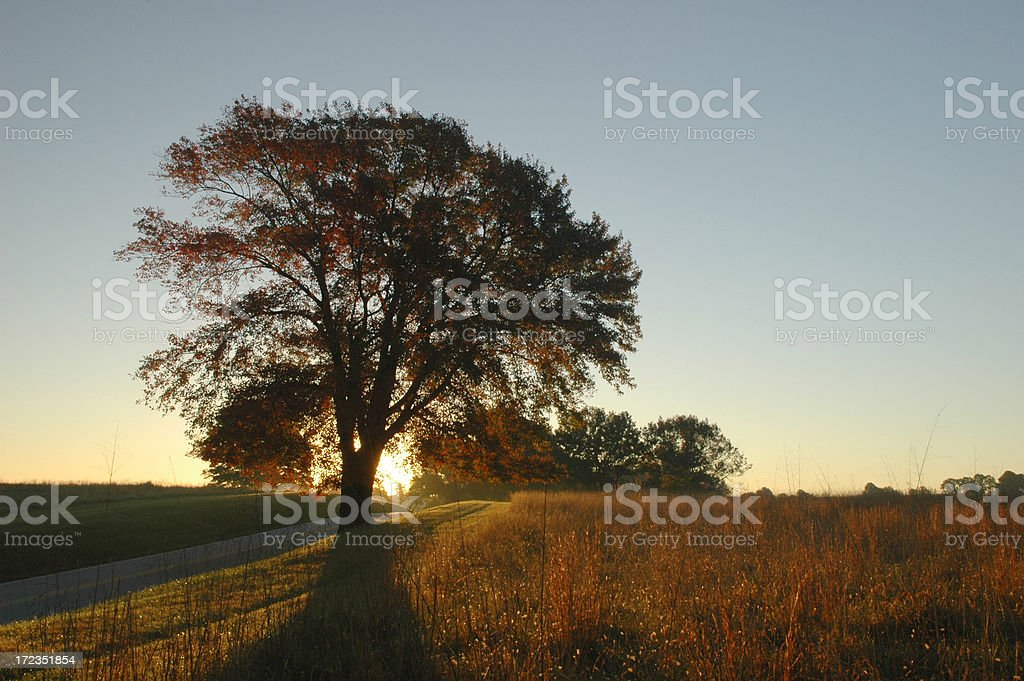 Sunrise at Valley Forge royalty-free stock photo