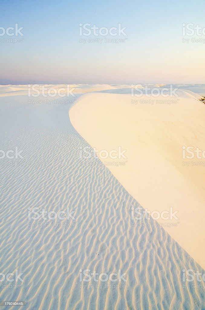 Sunrise at White Sands National Monument, New Mexico royalty-free stock photo