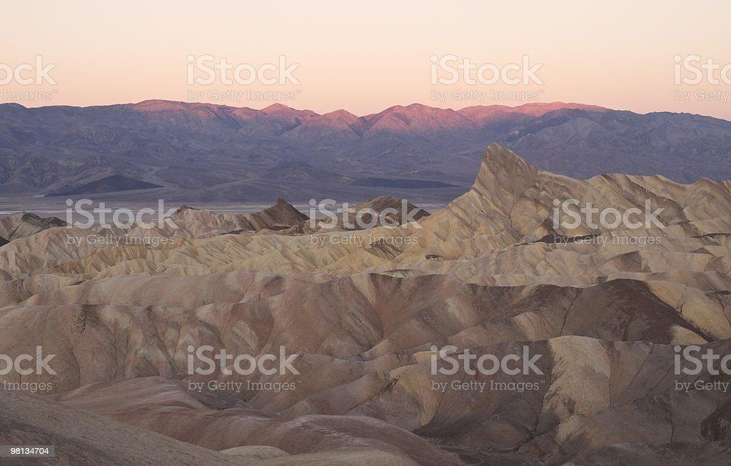 sunrise at zabriskie point. royalty-free stock photo