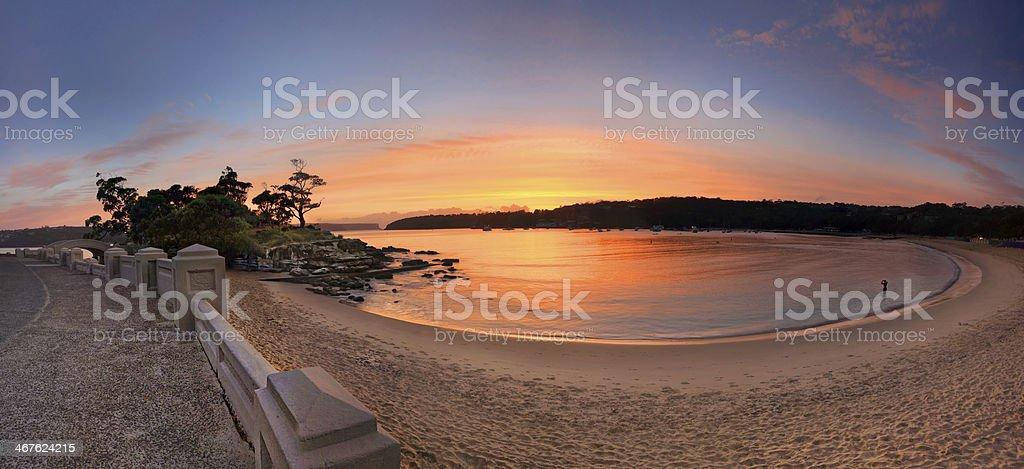 Sunrise Balmoral Beach Panorama  Australia stock photo