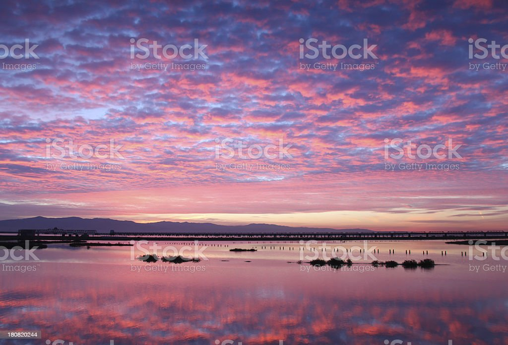 Sunrise Bay Area - Menlo Park , California, USA stock photo