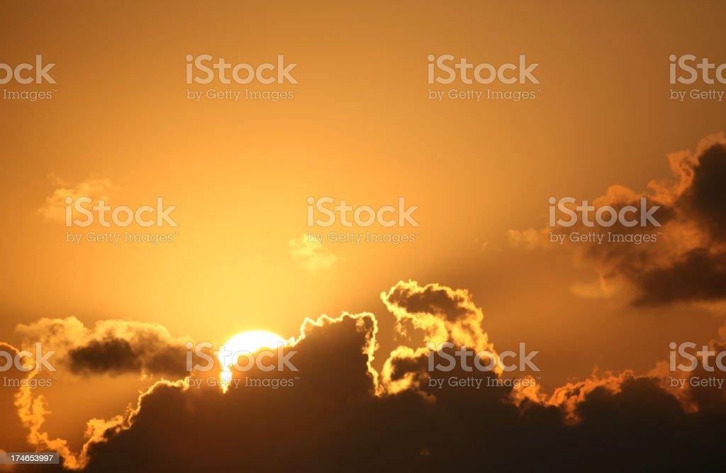Sunrise Behind Cloud royalty-free stock photo