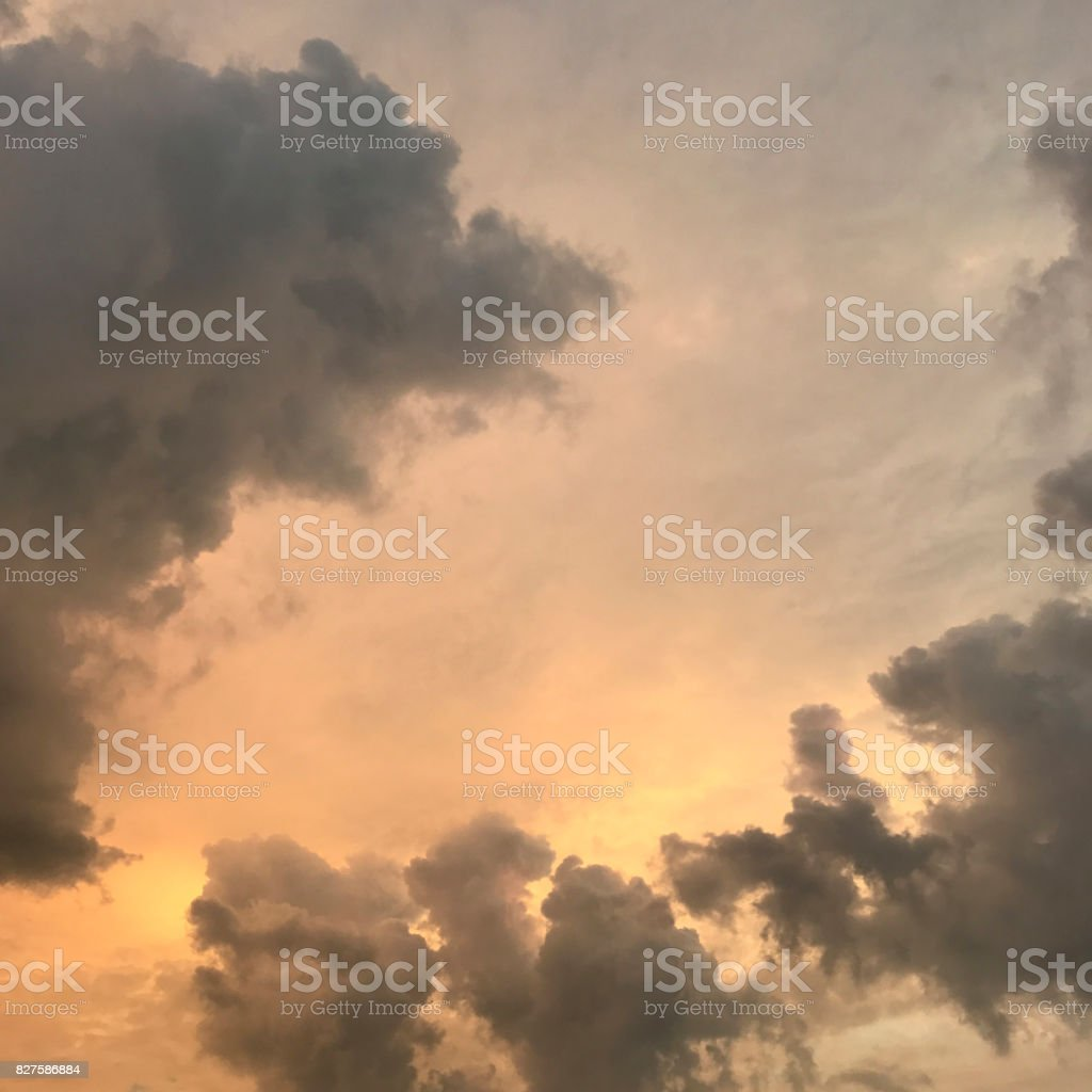 Sunrise Behind Storm Clounds stock photo