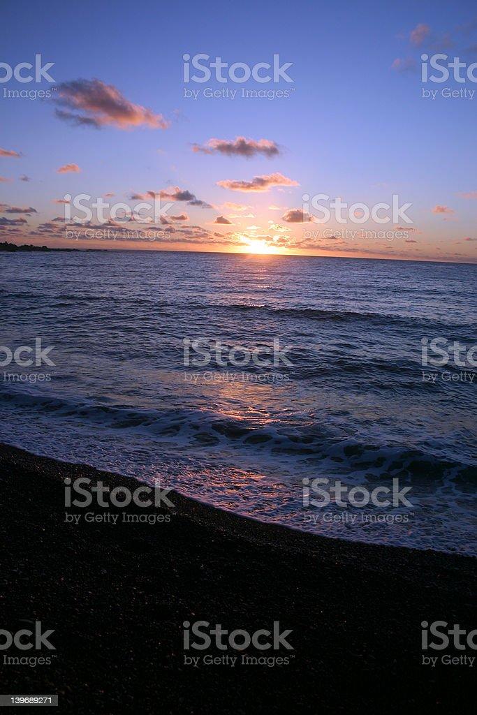 Sunrise, Black Sand Beach, Maui, Hawaii royalty-free stock photo