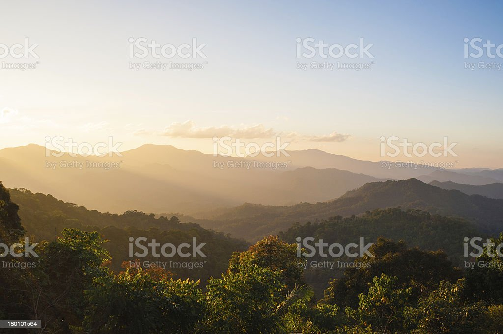 Sunrise Blue Ridge Mountains Scenic stock photo