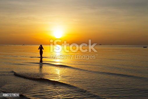 494377786istockphoto Sunrise body woman silhouette 496727824