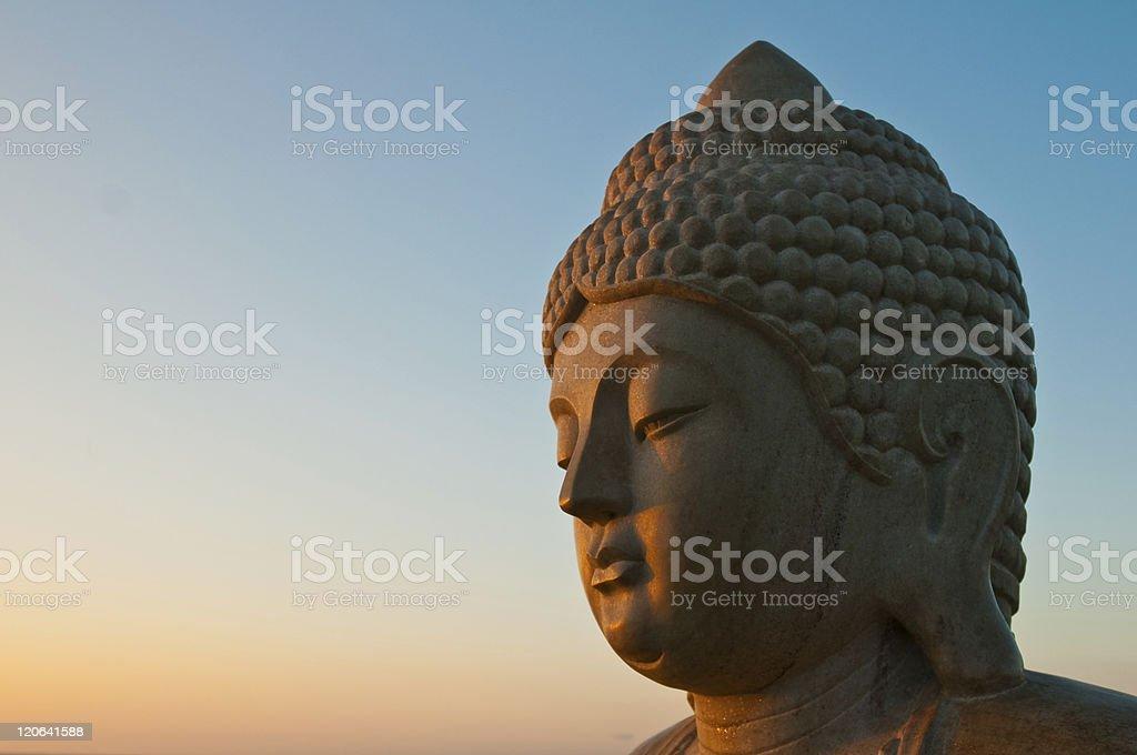 sunrise buddha stock photo