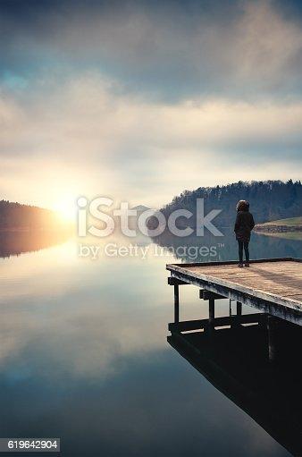 619670604 istock photo Sunrise By The Lake 619642904