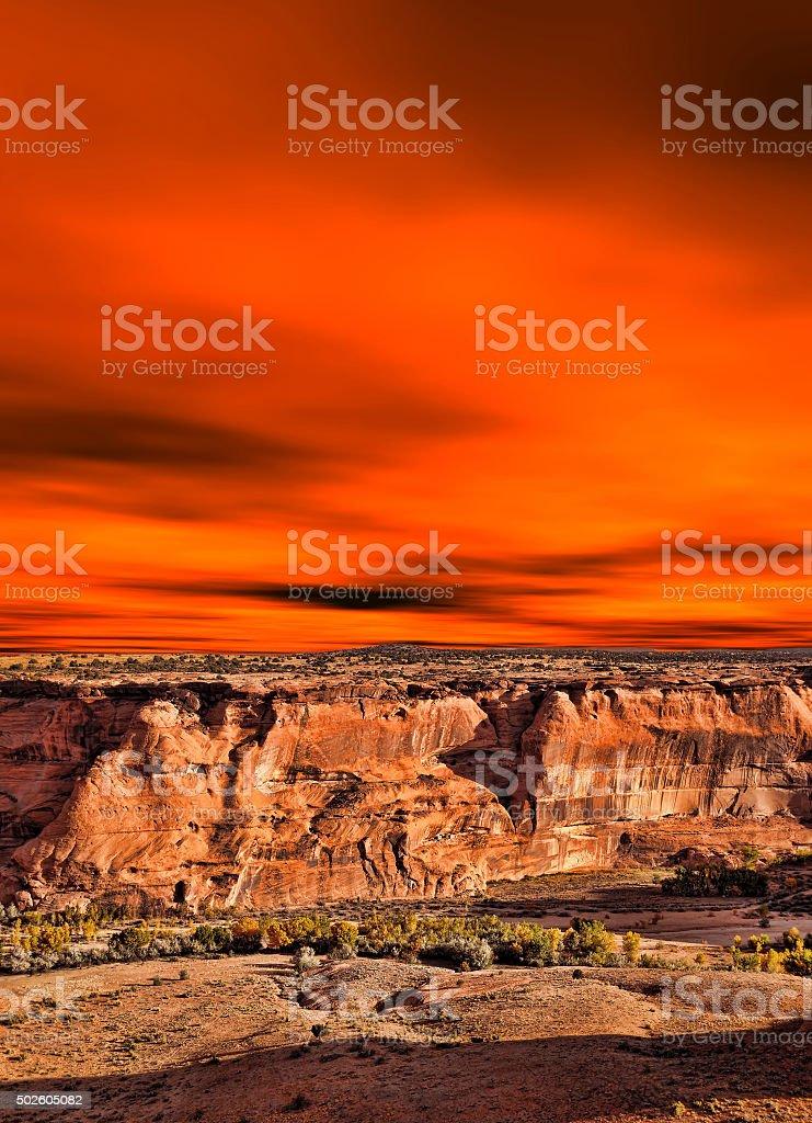 Sunrise Canyon de Chelly stock photo