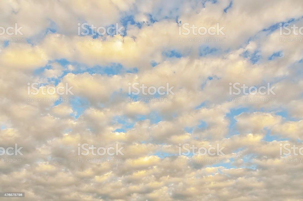 Sunrise Cirrocumulus stock photo