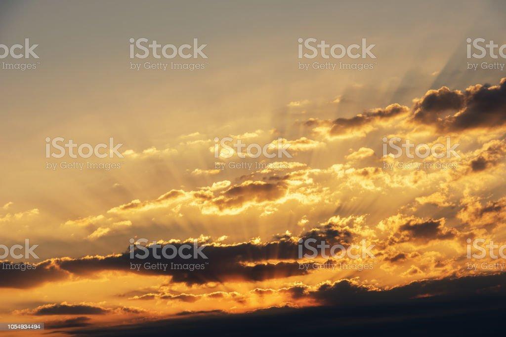 Sunrise cloud landscape stock photo