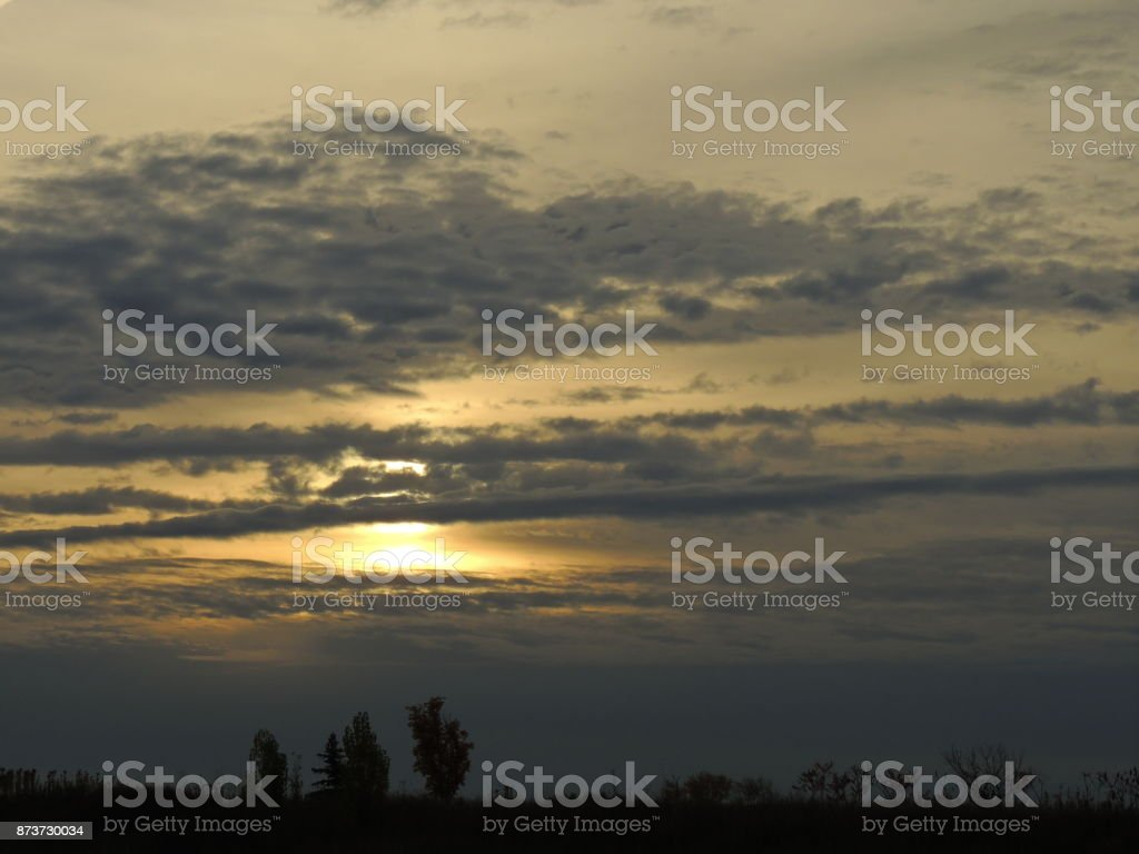 Sunrise Cloud Scene stock photo
