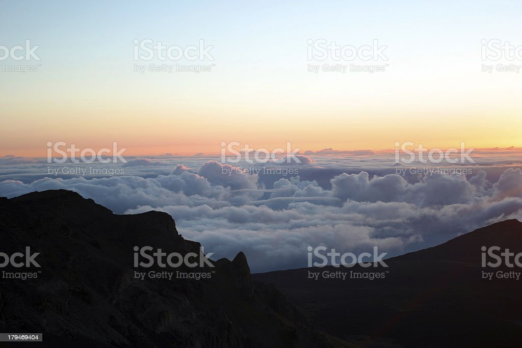Sunrise Clouds and Colors royalty-free stock photo
