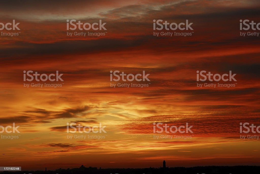 sunrise clouds royalty-free stock photo
