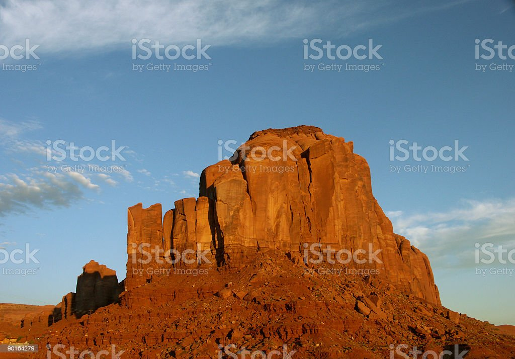 Sunrise Colors In Monument Valley royalty-free stock photo