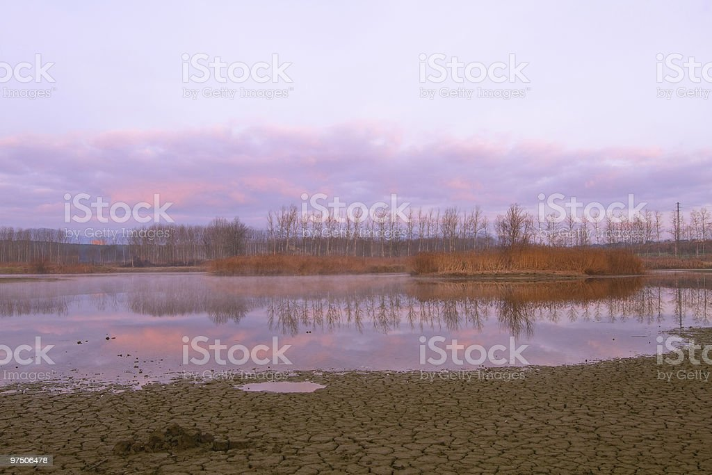 Sunrise colors royalty-free stock photo