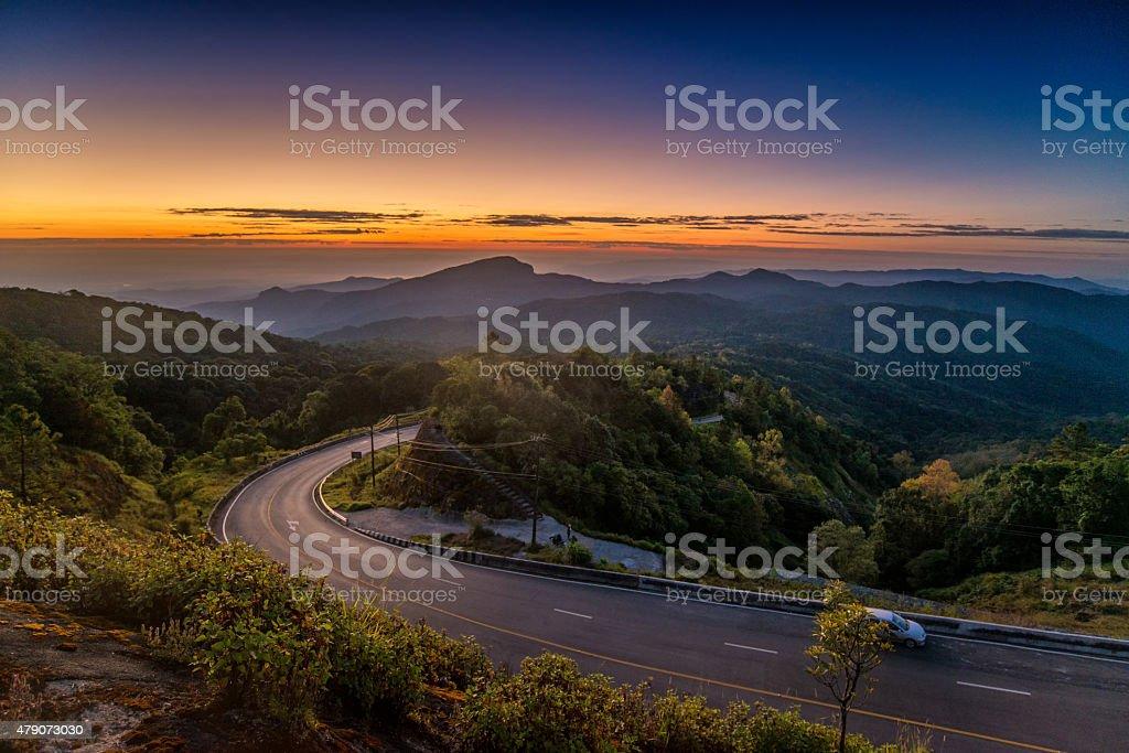 sunrise doi inthanon stock photo