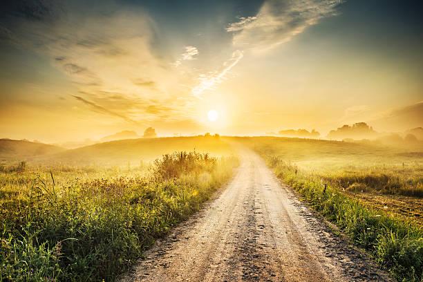 Sunrise during morning mist farm road landscape hdr xxxl picture id175219420?b=1&k=6&m=175219420&s=612x612&w=0&h=qbq1alpj5mk3y6orsjbkuvkkvwzn6en  uql2qtq2eq=