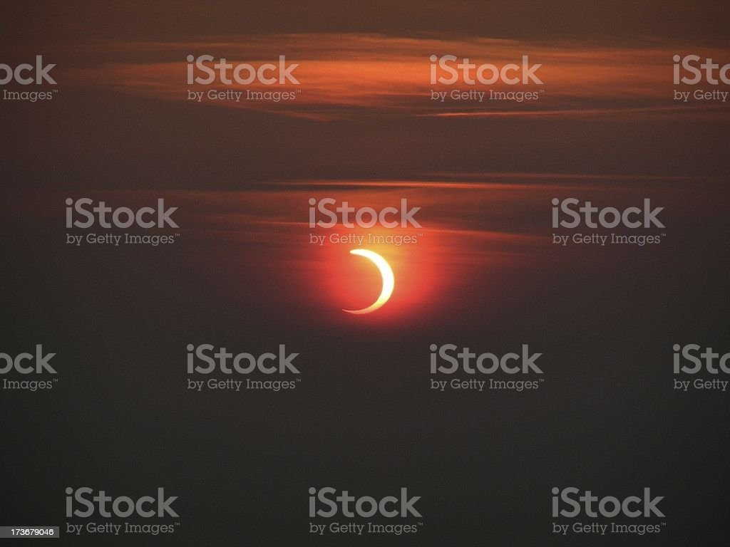 Sunrise Eclipse stock photo