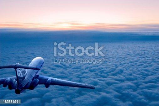 istock Sunrise flight 185331541