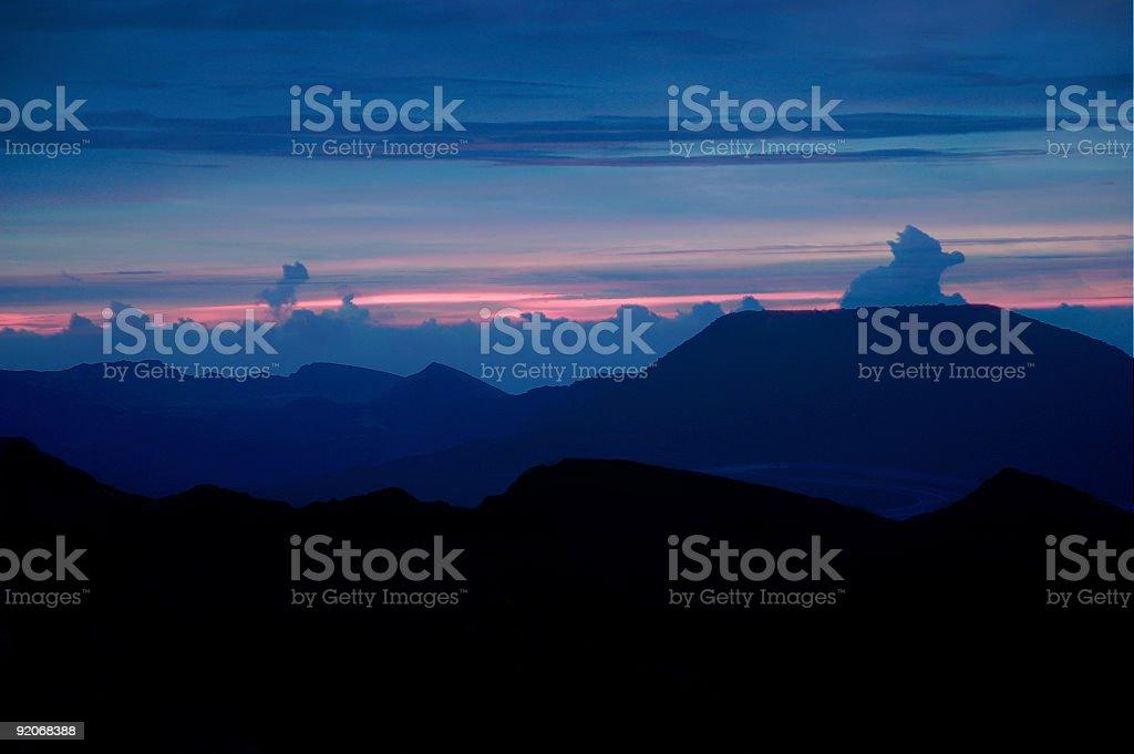sunrise from haleakela royalty-free stock photo