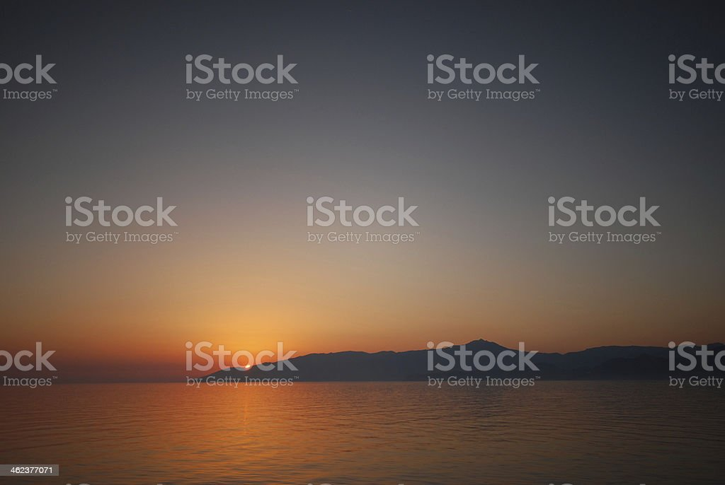 sunrise from horizon royalty-free stock photo