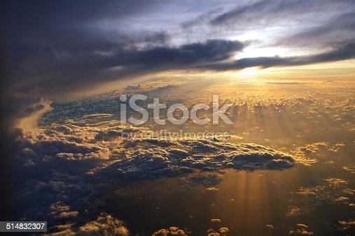 540203788 istock photo Sunrise from plane 514832307