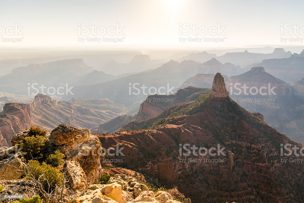 Sunrise From The North Rim Of The Grand Canyon stock photo