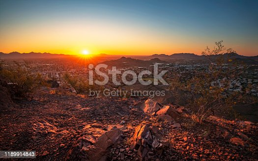 Sunrise from the Phoenix Mountains Preserve