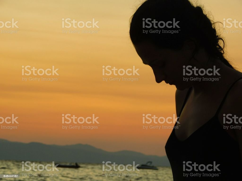Sunrise Girl - fotografia de stock
