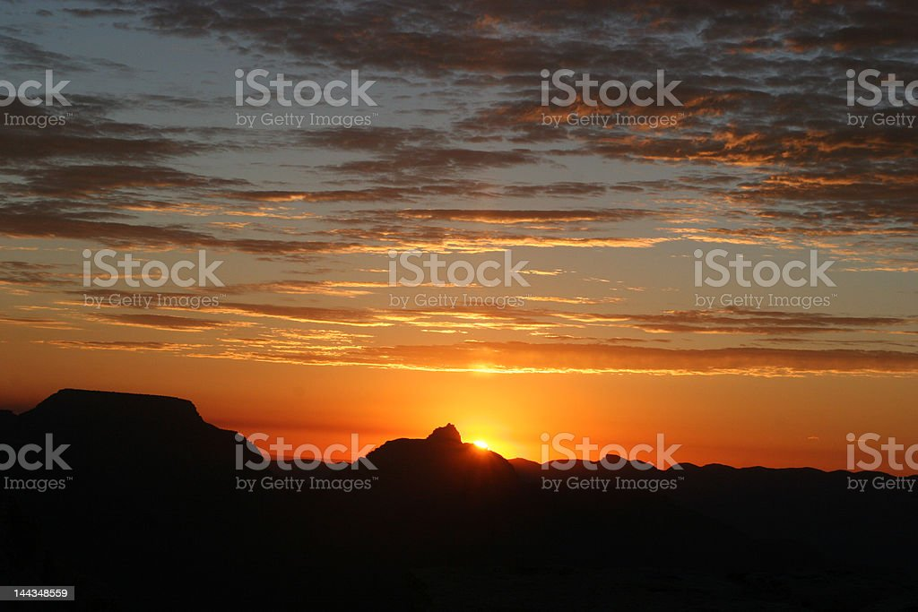 sunrise grand caynon royalty-free stock photo