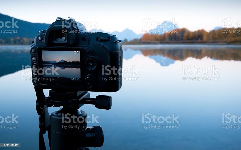 Sunrise Image in LCD - Oxbow Bend, GTNP