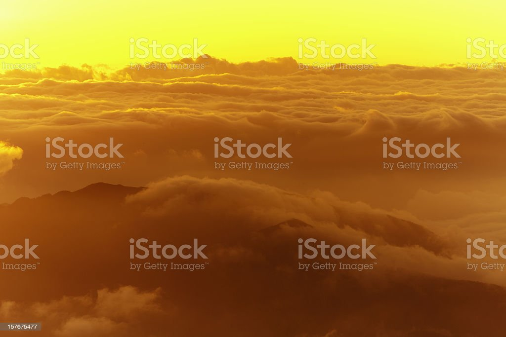 "sunrise in ""cattle's back"" mountain peak royalty-free stock photo"