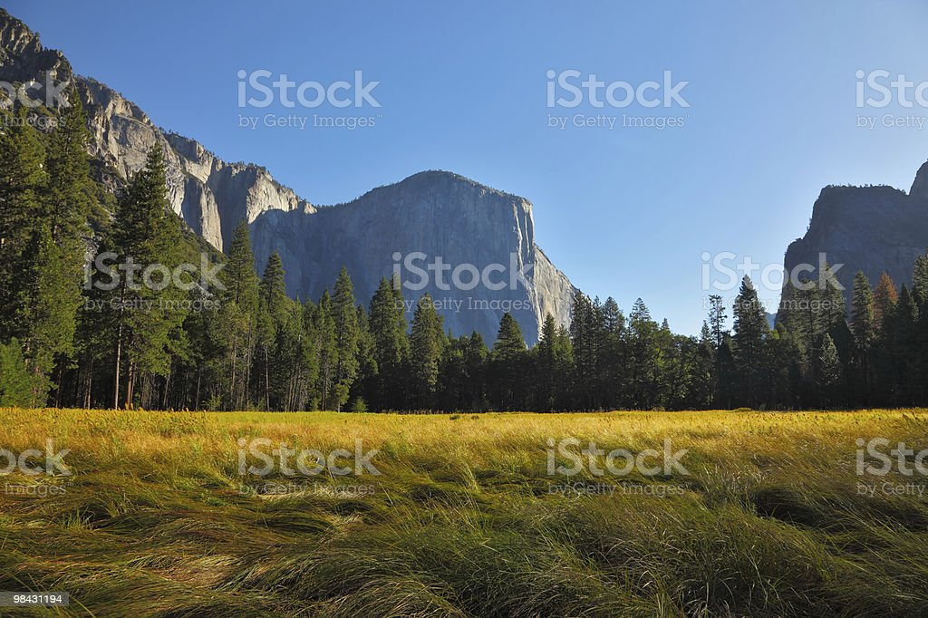 . Sunrise in a valley royalty-free stock photo